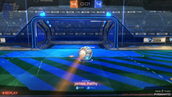 Rocket League Review Screenshot Wallpaper Match Winning Shot