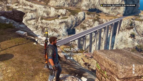 Just Cause 3 Review Screenshot Wallpaper Blowing up a bridge