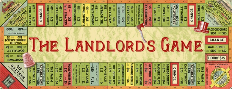 The Landlord's Game 1906 - board