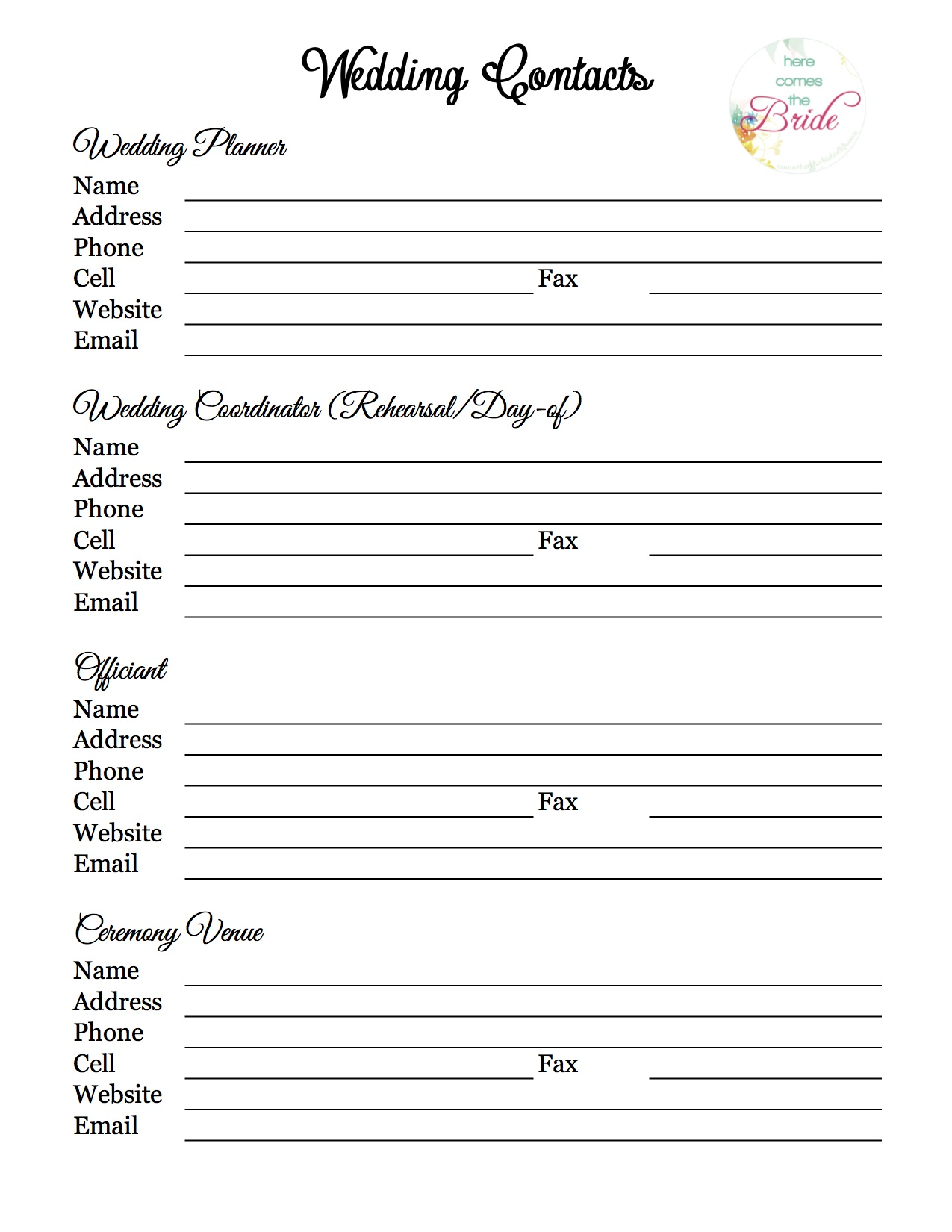 Wedding Planner With Free Printables The Refurbished Life
