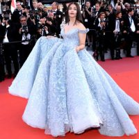 Cannes Film Festival 2017 : Aishwarya Rai Bachchan In Michael Cinco Gown, Boucheron Jewels & Ferragamo Heels