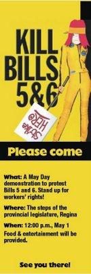 May Day Rally handbill