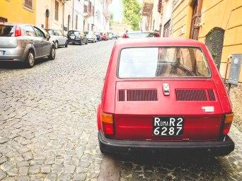 Car in Albano - larger town near Ariccia