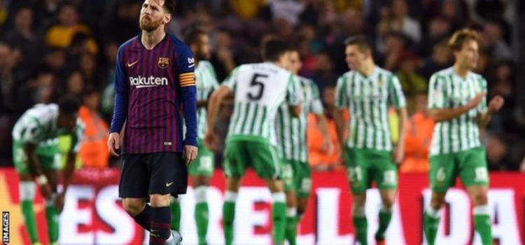 Two years after, Barcelona lose home league match against Betis