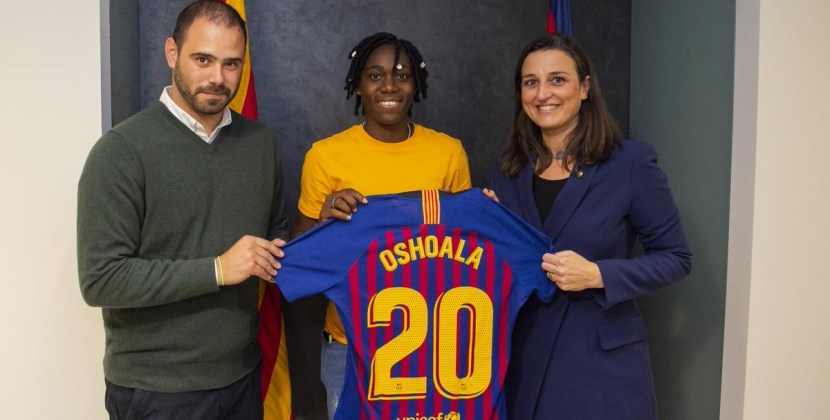 Breaking News! Barcelona confirm Super Falcons' Asisat Oshoala signing