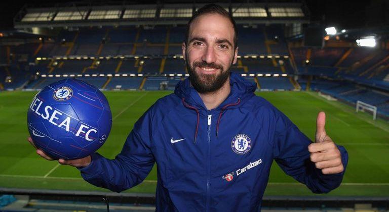 Gonzalo Higuain completes loan transfer to Chelsea