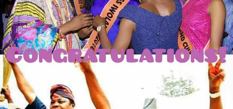 Miss Iwoland 2018 fecilates with Oluwo as Oriolowo, Amobi win 2019 general elections.
