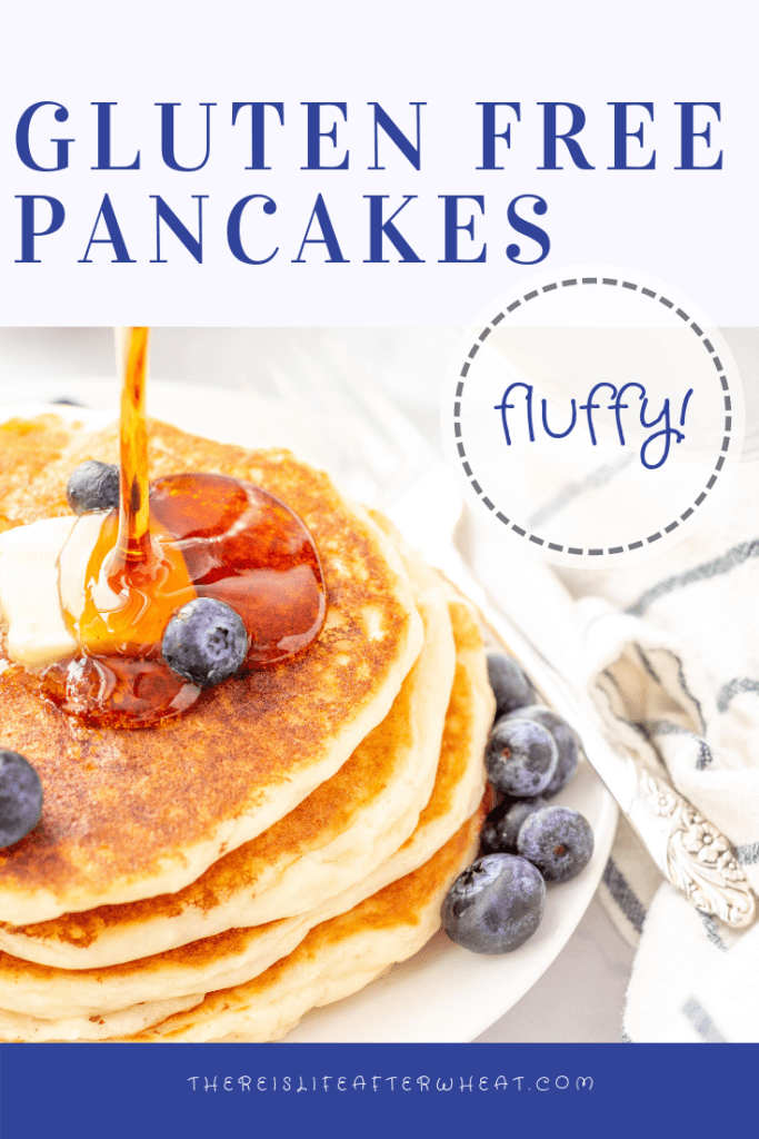 Gluten Free Pancakes - the FLUFFIEST gluten free pancake recipe with easy step-by-step instructions!