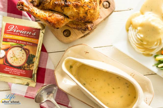 The holidays can be hard when you're gluten free, and they're even more difficult when you also can't have dairy. Here's an easy, 3 ingredient gravy recipe that's gluten and dairy free! It's packed with flavor and a smooth, creamy texture that will have everyone wondering what your secret is.