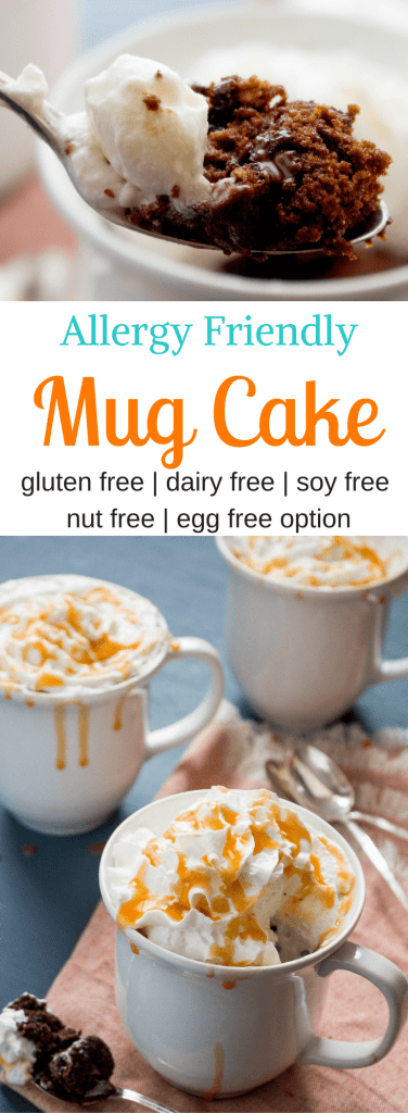 Craving something sweet? Whip up this single serving chocolate cake in your favorite mug, pop it in the microwave,and enjoy! Ready in 5 minutes flat, this allergy friendly mug cake is sure to be a hit. Gluten free and free from the top 8 allergens, but with all the taste you would expect from a delicious chocolate cake!