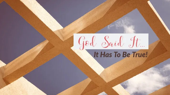 God says we are