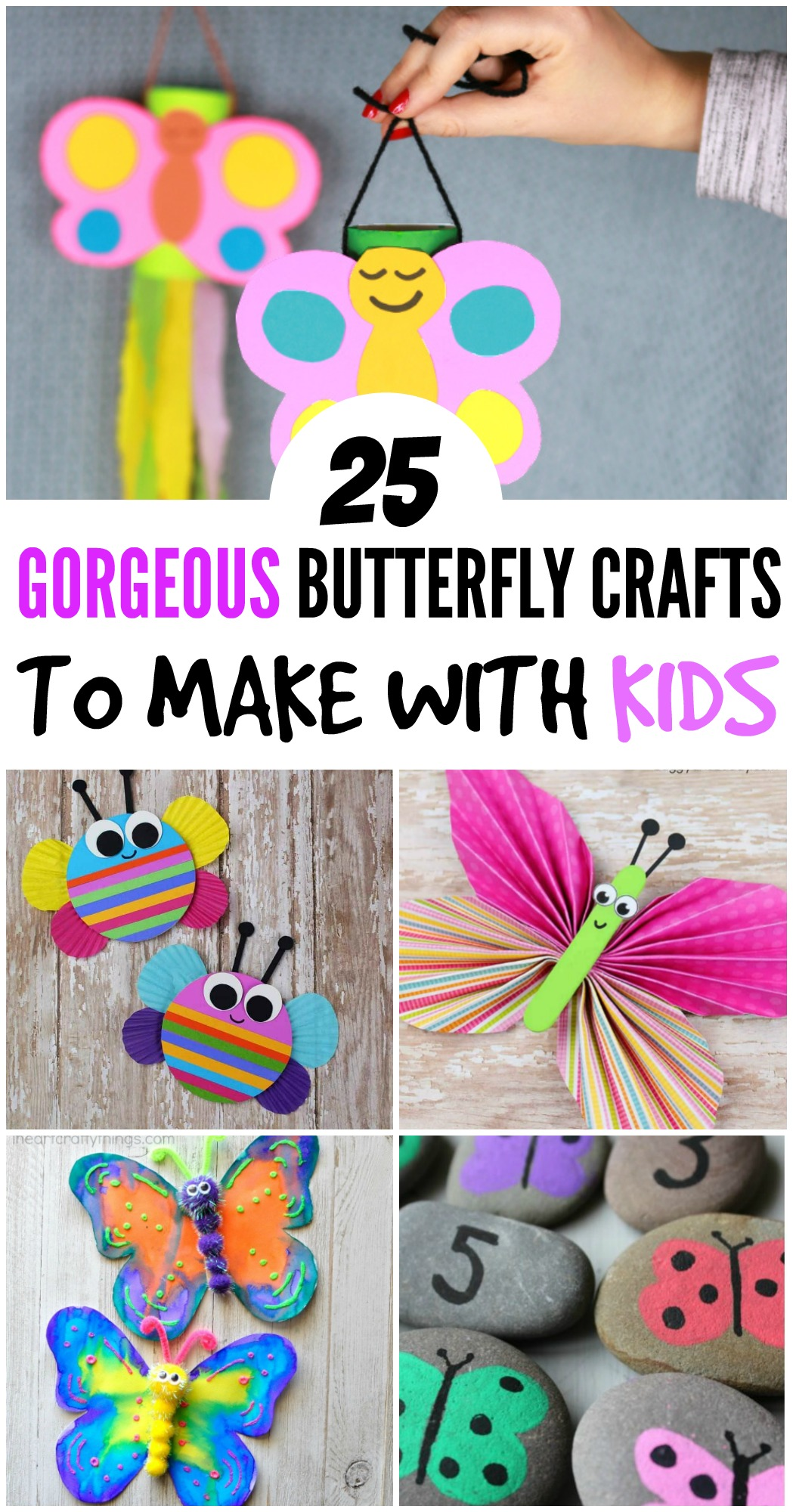25 Gorgeous Butterfly Crafts To Make With Kids