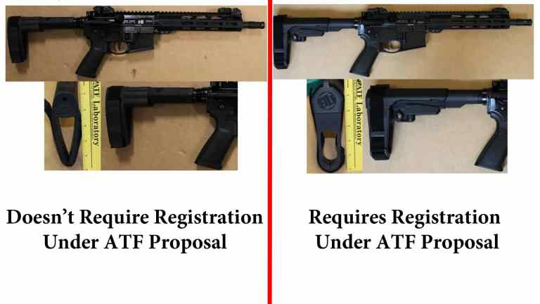 ATF examples of legal and illegal braces under the proposed rule change