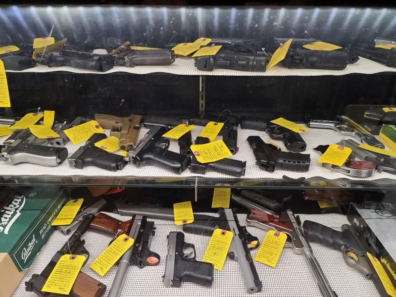 Guns for sale at a Virginia gun store
