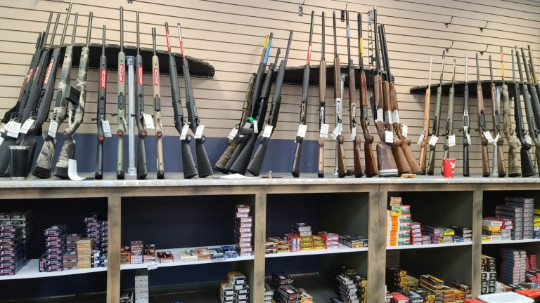 A display at a Pennsylvania gun store on August 21st, 2021