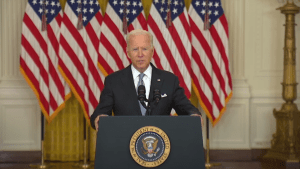 Joe Biden delivers remarks about Afghanistan on August 16, 2021