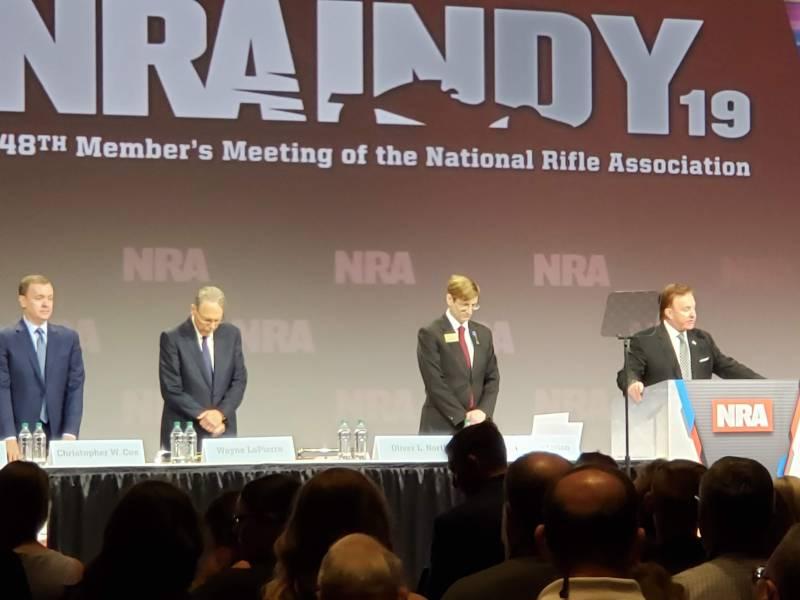 NRA CEO Wayne LaPierre attends the 2019 members' meeting