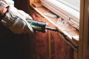 A person renovates a home