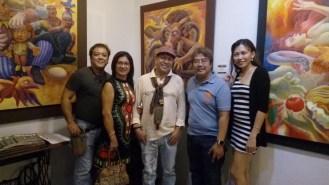 "From left to right - Artist Badz Magsumbol, Paz Cadid, NeMiranda, Carlos ""Cee"" Cadid, and Alvero's Reizel M. Vibal"