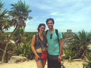 At the Tulum Ruins
