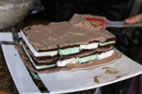 Layering Ice Cream Sandwiches