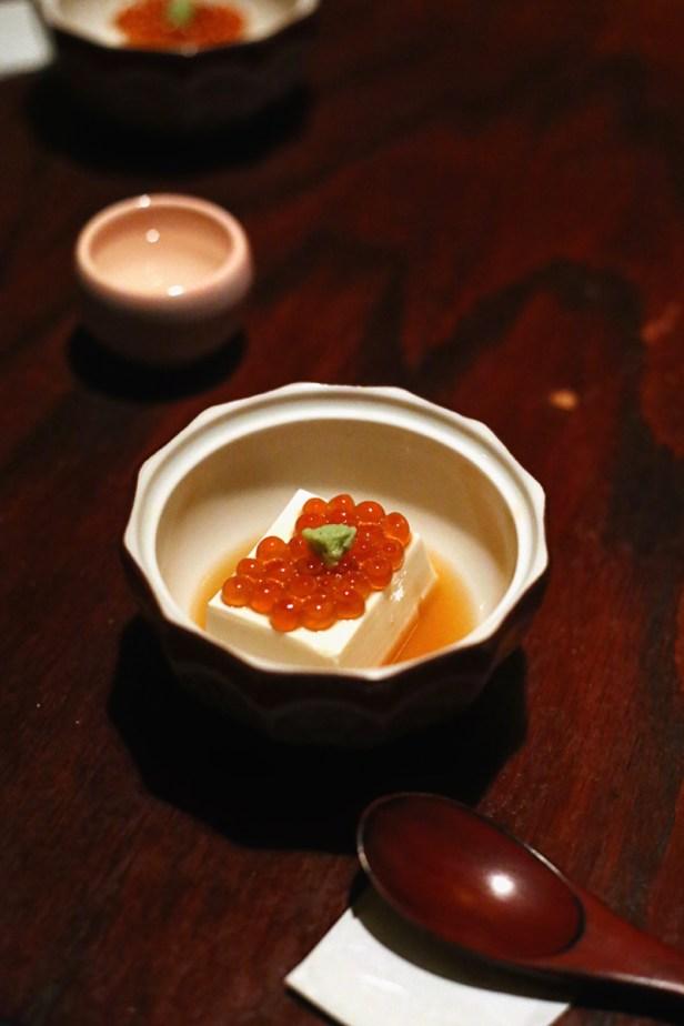 Homemade Tofu & Ikura