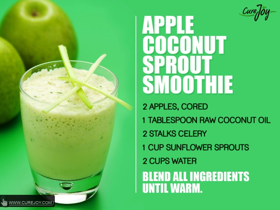 Apple-Coconut-Sprout Smoothie