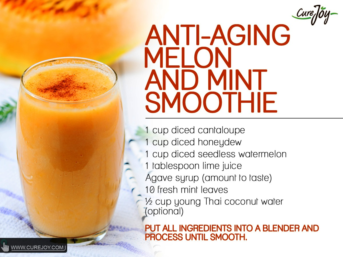 Anti-Aging Melon and Mint Smoothie