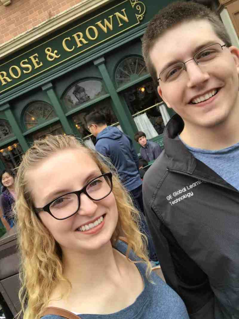Pre-engagement Selfie at Rose & Crown