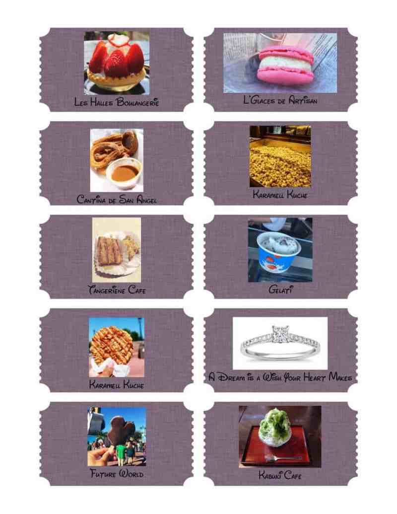 Epcot Scavenger Hunt Reward Tickets