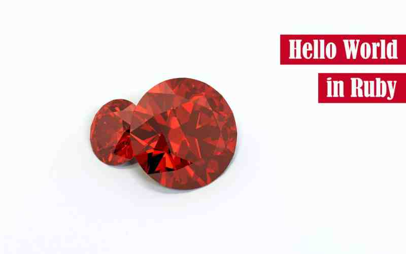 Hello World in Ruby Featured Image