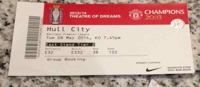 Manchester United Ticket