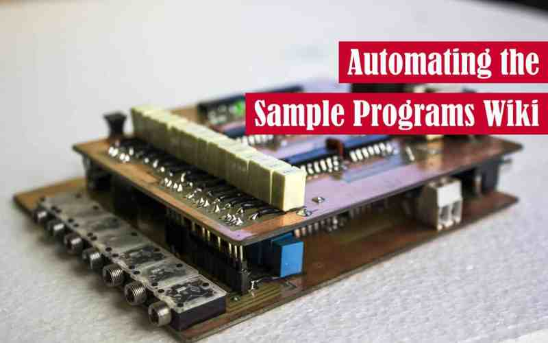 Automating the Sample Programs Wiki Featured Image