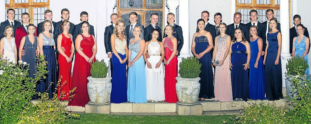 READY TO DANCE THE NIGHT AWAY: A group of GHS girls and their partners got together for a photo opportunity before the start of the recent matric dance Picture: PIXEL PERFECT PHOTOGRAPHY