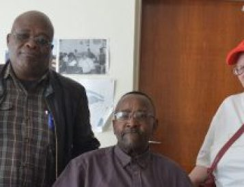 INCLUDE US: Members of the Lukhanji Disability Council want to be involved with programmes taking place in the area. They are, from left, Mawonga Yelani, Mzilakazi Toza and Bulelwa Magqaza Picture: BHONGO JACOB