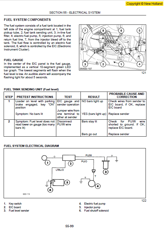 new holland ls160 and ls170 skidsteer service manual