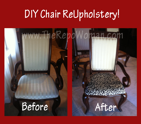 Step By Step Instructions For Dining Room Chair ReUpholstery No Sewing Required The Repo Woman