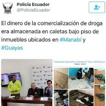 Ecuadorian National Police officials during the press conference after the big bust, The Republican News