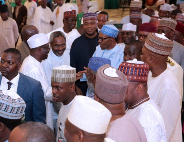 PRESIDENT BUHARI DINNER WITH NASS MEMBERS