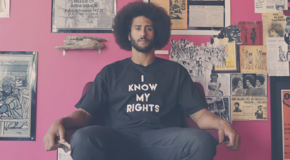 Colin Kaepernick rally forming by people who can't spell his name