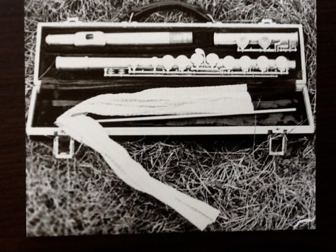 Flute and case, Alice Pare
