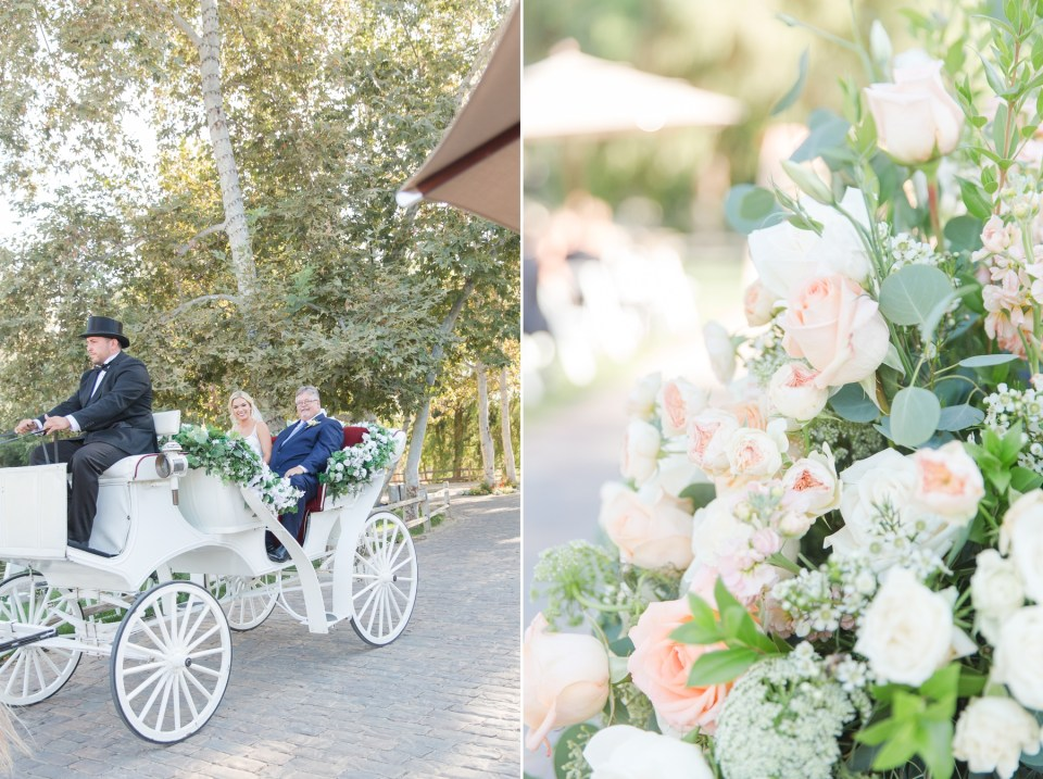 Southern California Wedding Photographer Bride in Horse and Carriage by Theresa Bridget Photography