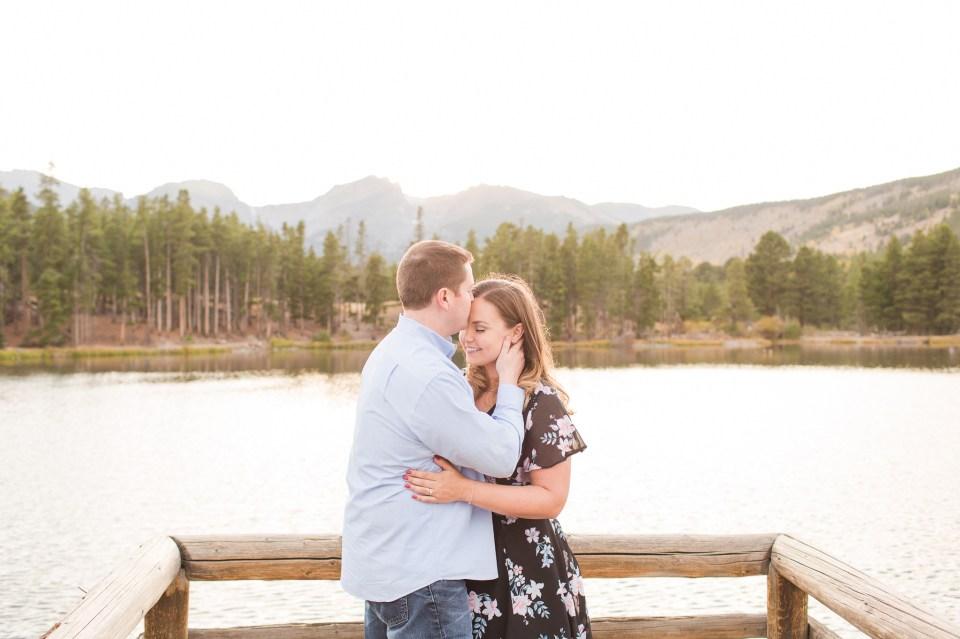 Sprague Lake Rocky Mountain National Park Engagement Session