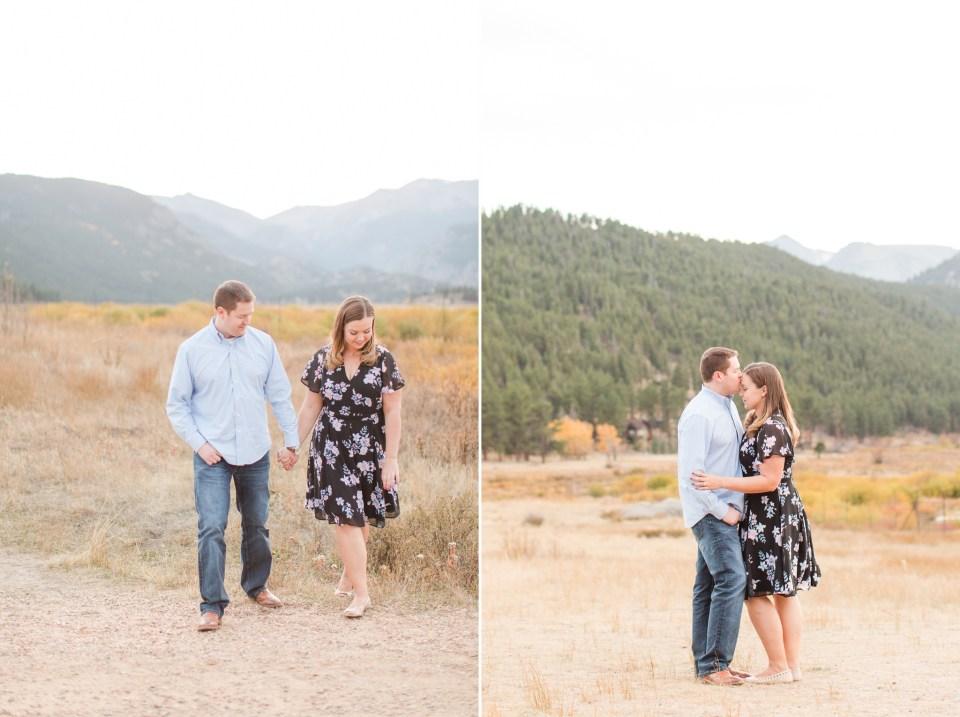 Sprague Lake Rocky Mountain National Park Engagement Session image