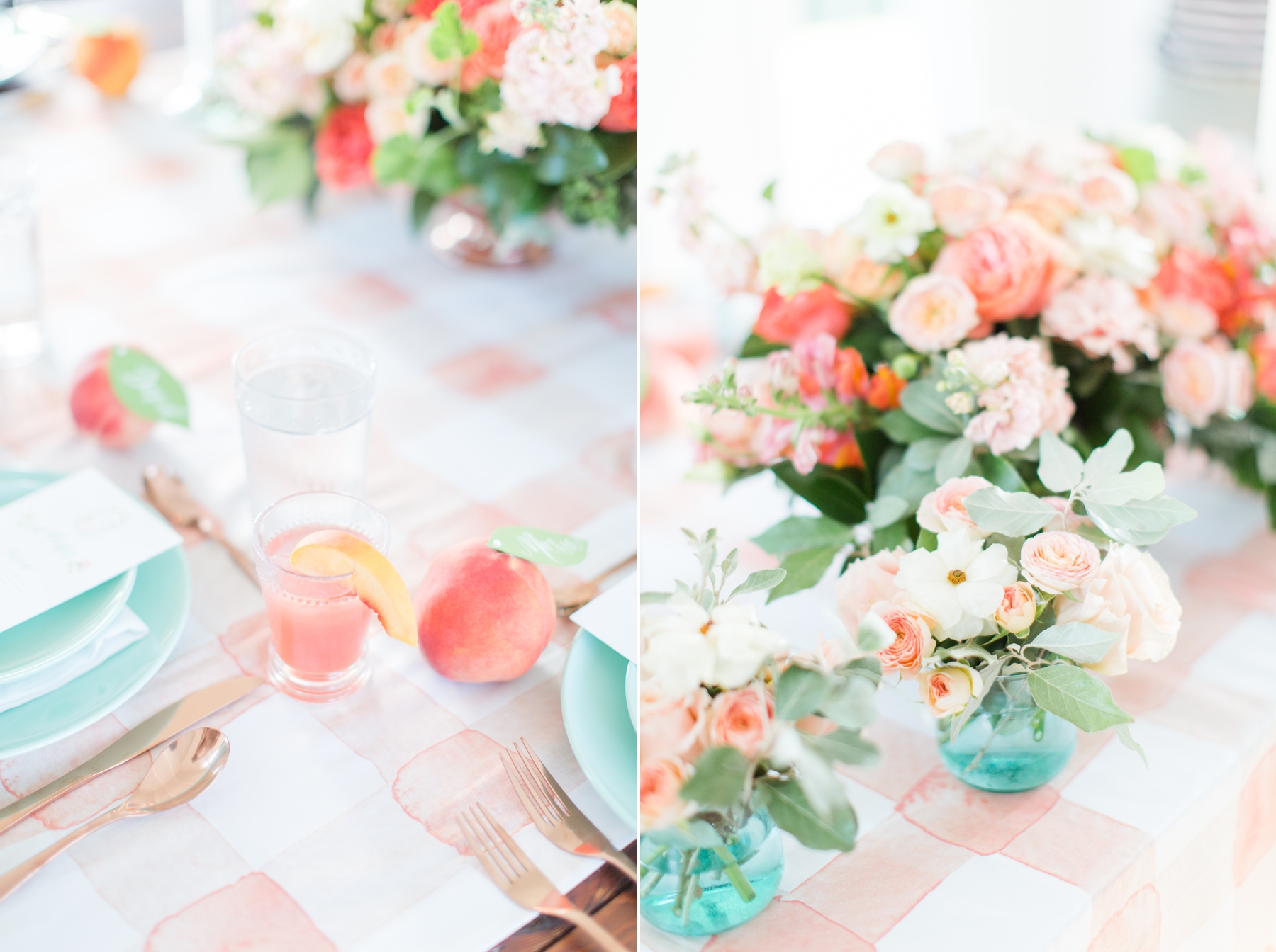 a34147e577 Mint and Peach Summer Inspired Wedding 1