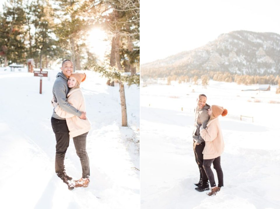 Snowy Colorado Engagement Session