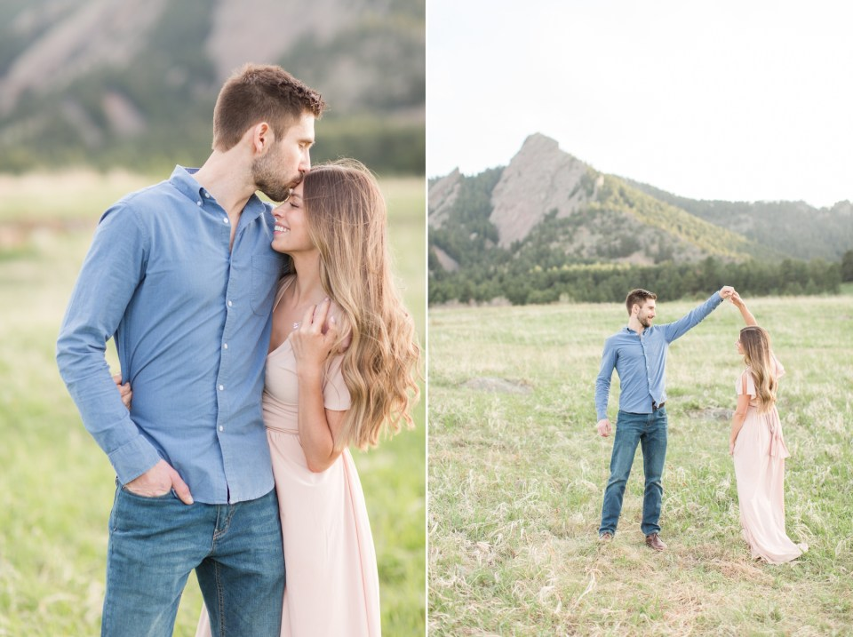 A guide on what to wear at an engagement session in Colorado Mountains
