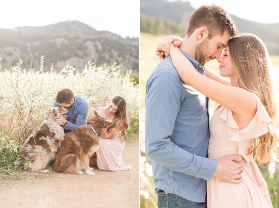 Best engagement session locations in Boulder Colorado