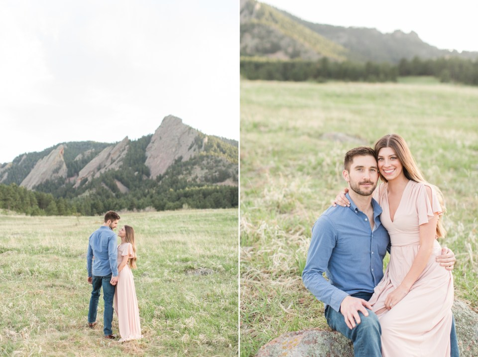 Engagement session at chautauqua park in Boulder Colorado. Colorado Wedding Photographer