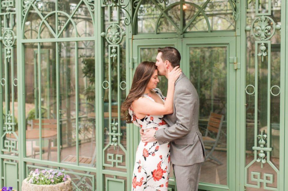 Spring engagement session at Denver Botanical Garden photographed by Colorado Wedding Photographer